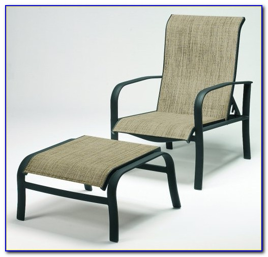 Outdoor Chair With Ottoman Underneath