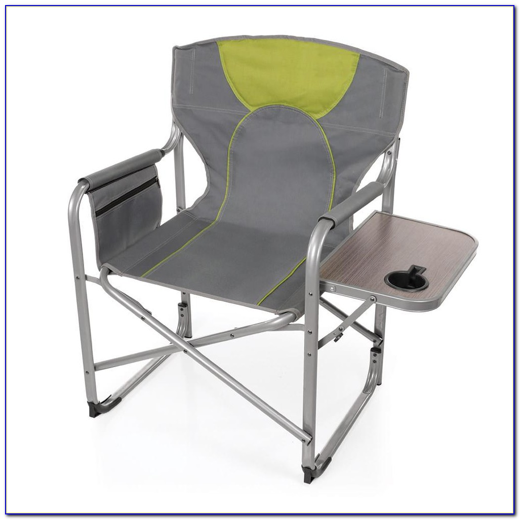 Outdoor Folding Chair With Side Table
