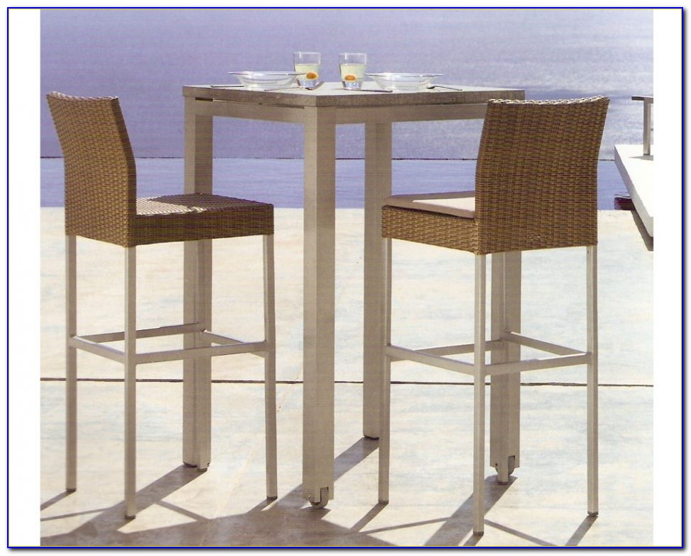 Outdoor Patio Bar Height Table And Chairs