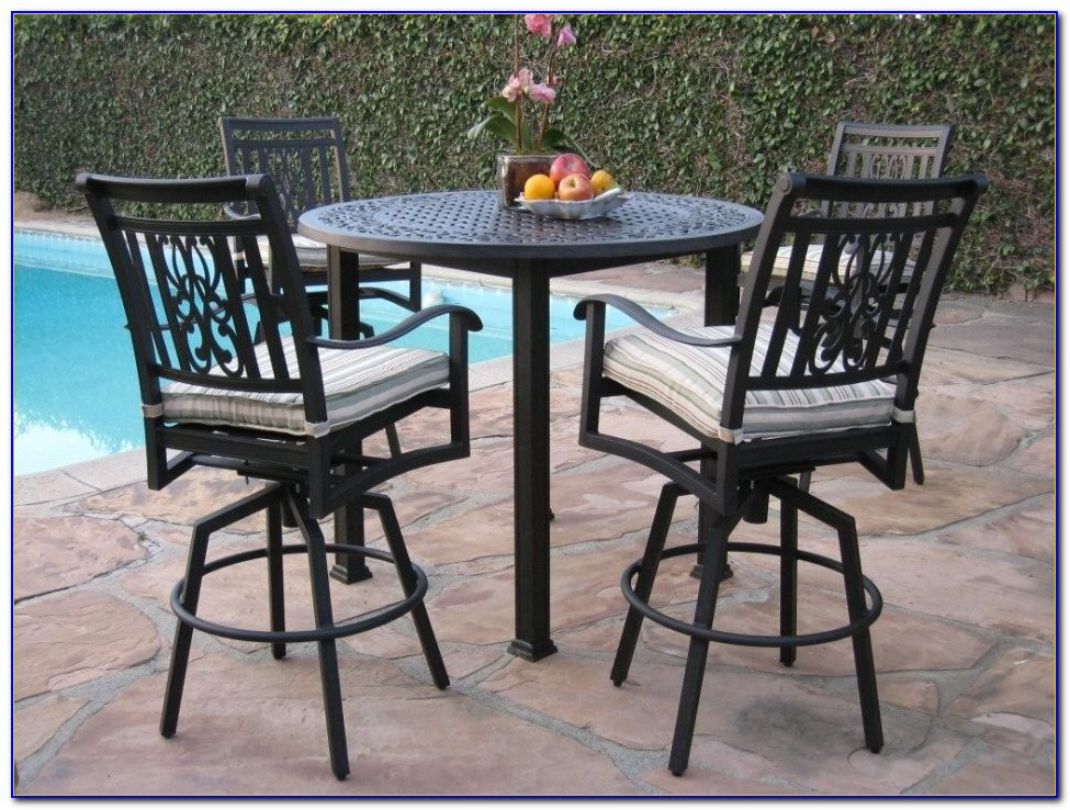 Outdoor Round Bar Height Table And Chairs