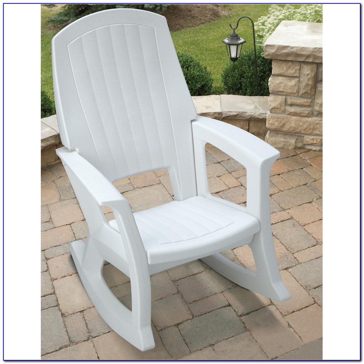 Outdoor White Wood Rocking Chairs