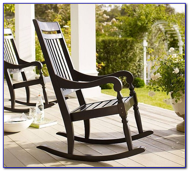 Outdoor Wood Rocking Chair Black