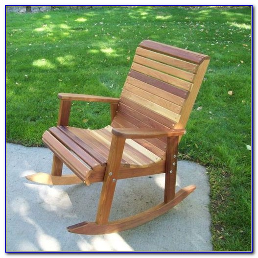 Outdoor Wood Rocking Chair