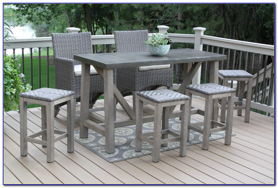 Outside Bar Height Table And Chairs