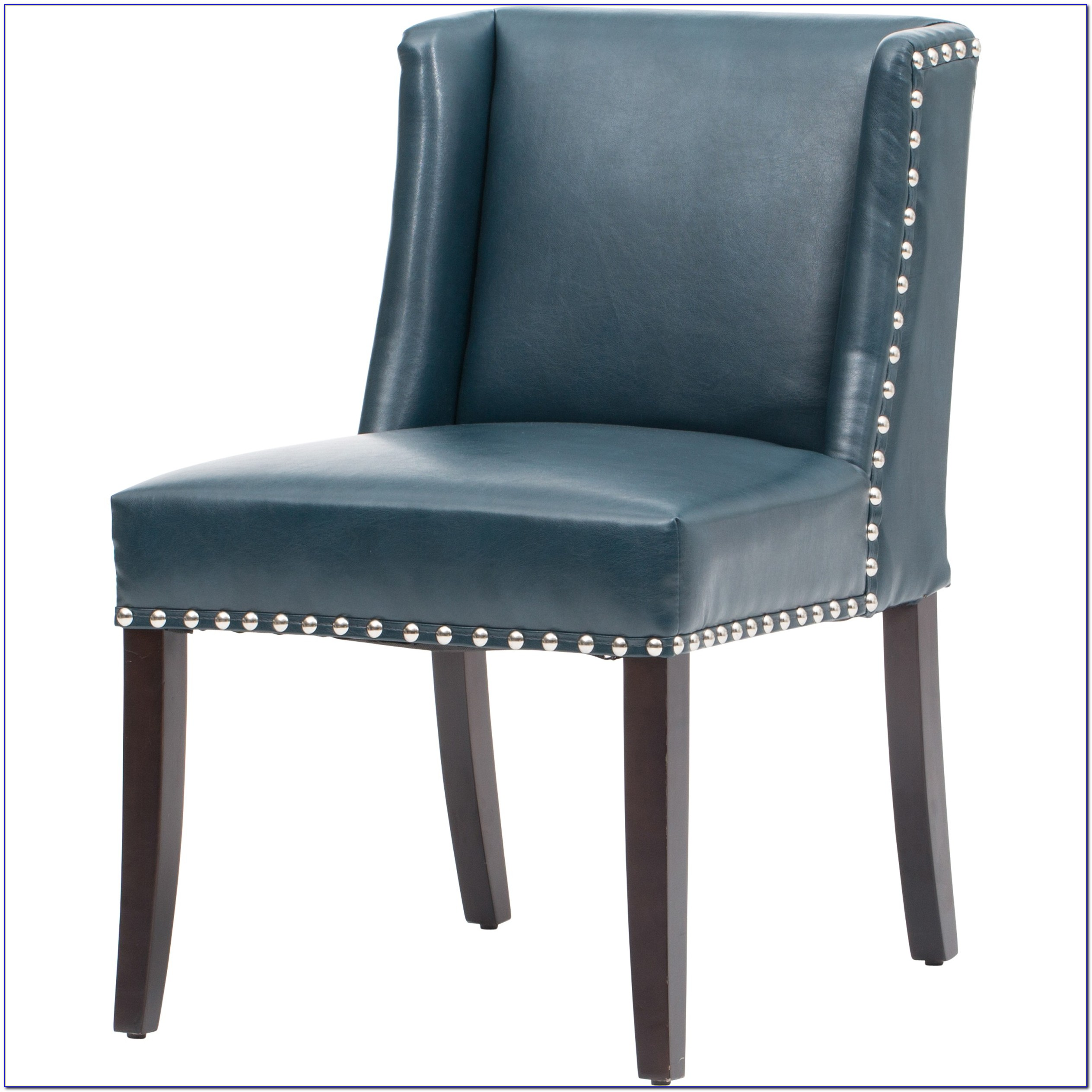 Pale Blue Leather Dining Chairs