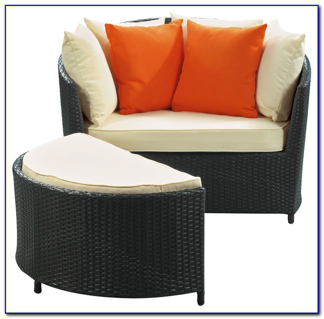 Patio Chairs With Slide Under Ottomans