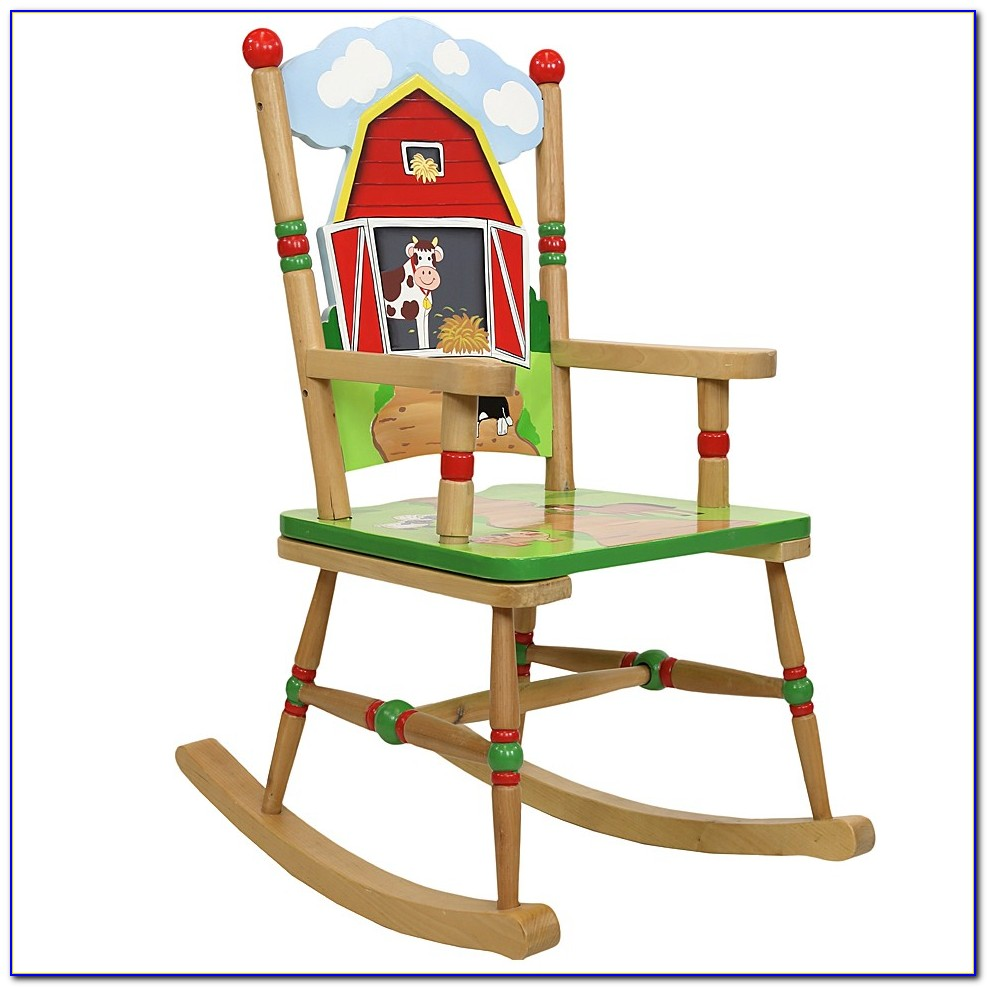 Personalized Childrens Wooden Rocking Chairs