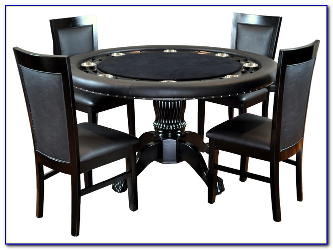 Poker Dining Table With Chairs