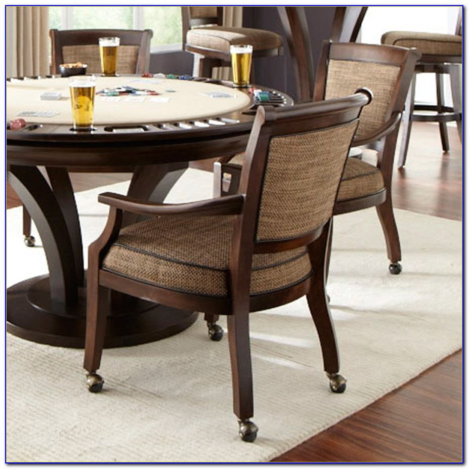 Poker Table Chairs With Casters