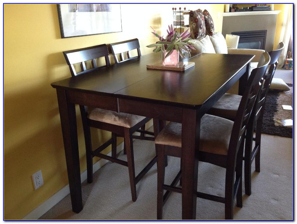Pub Table With Leather Chairs