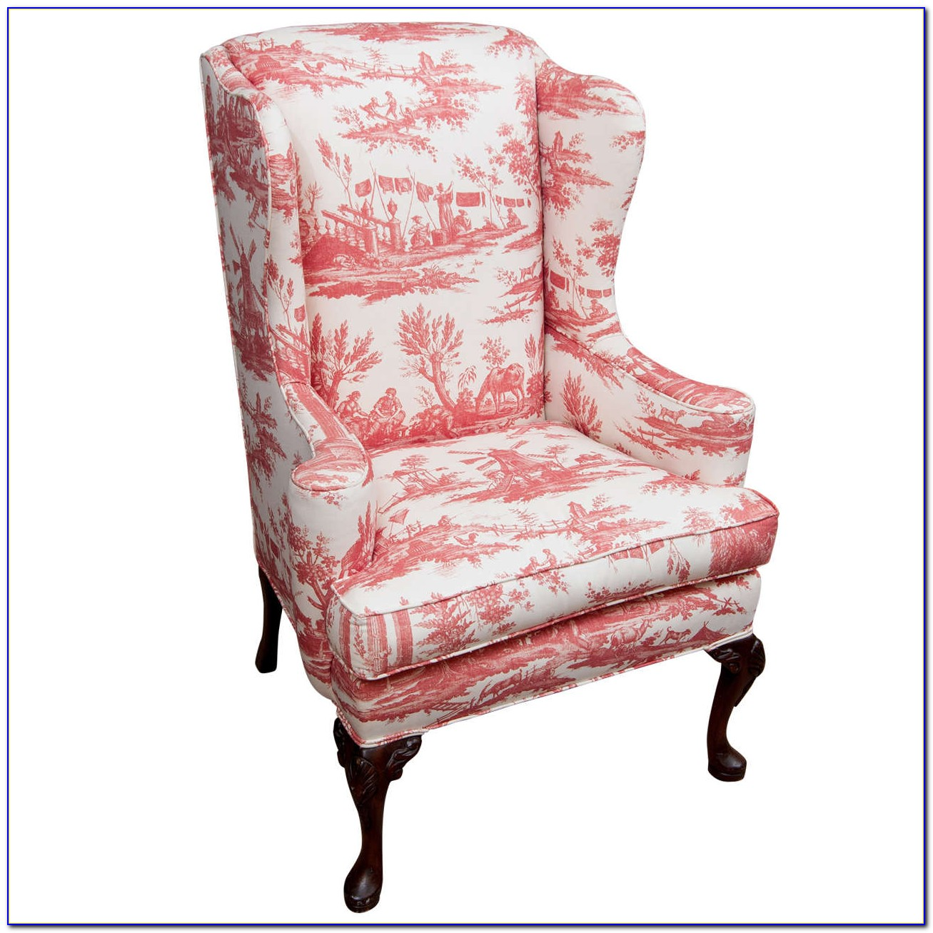 Queen Anne Wing Chair Antique