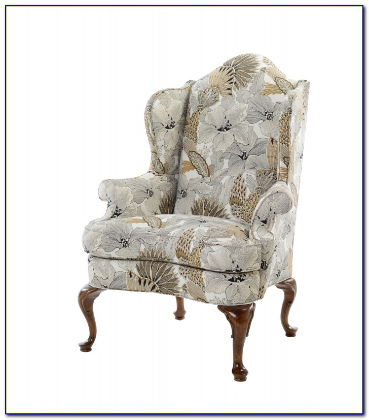 Queen Anne Wing Chair Leather