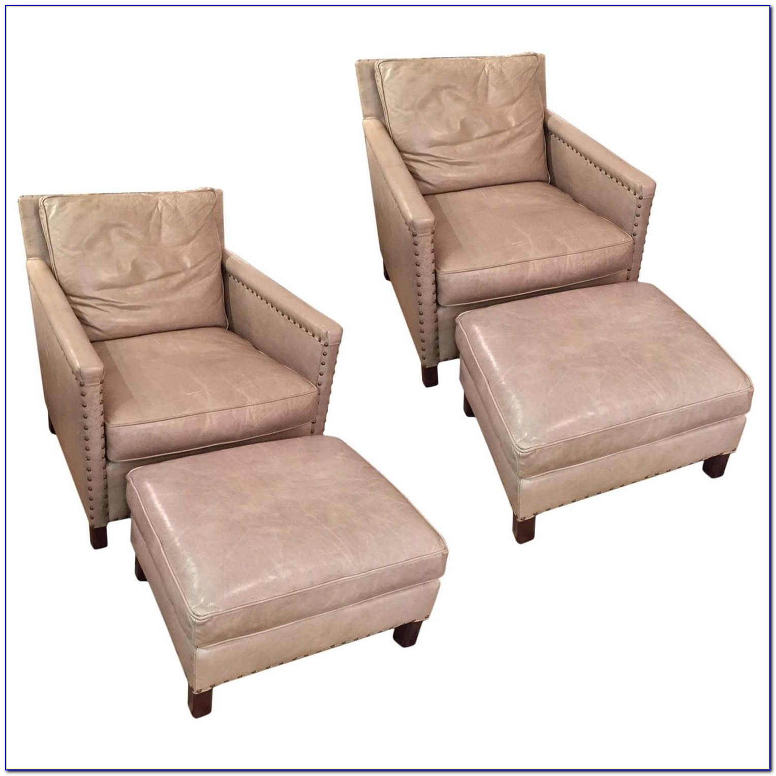 Reclining Club Chair And Ottoman
