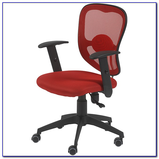 Red And Black Leather Office Chair