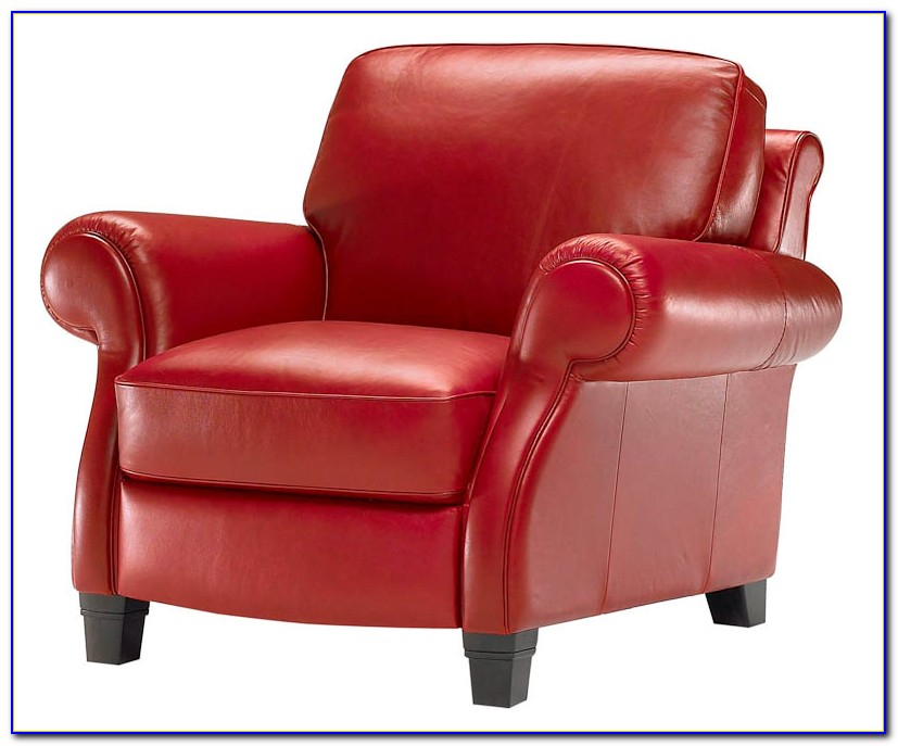 Red Faux Leather Recliner Chair
