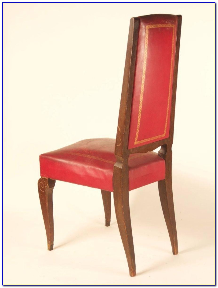 Red High Back Dining Room Chairs