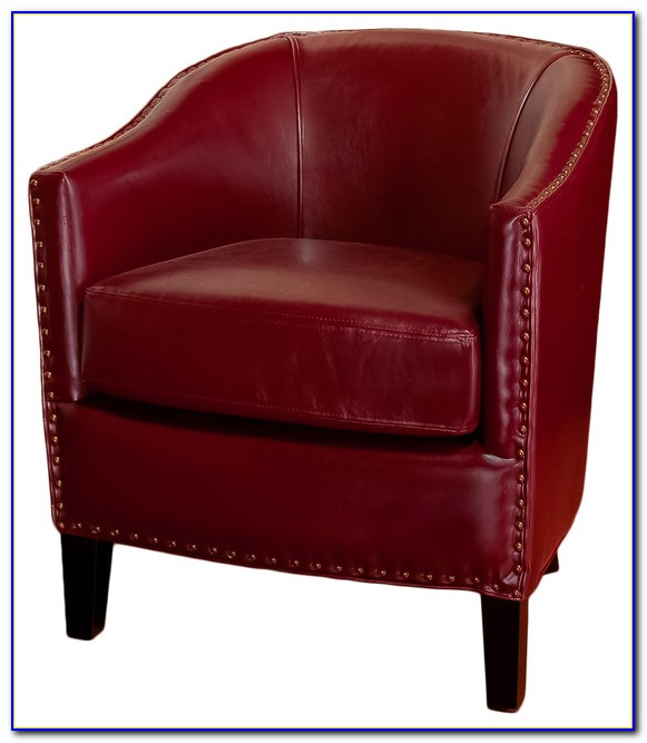 Red Leather Club Chair Canada