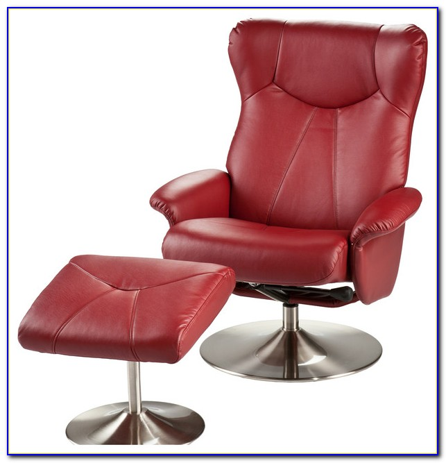 Red Leather Electric Recliner Chair
