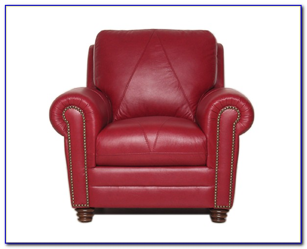 Red Leather Power Recliner Chair