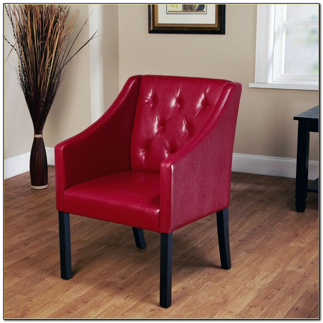 Red Leather Waiting Room Chairs