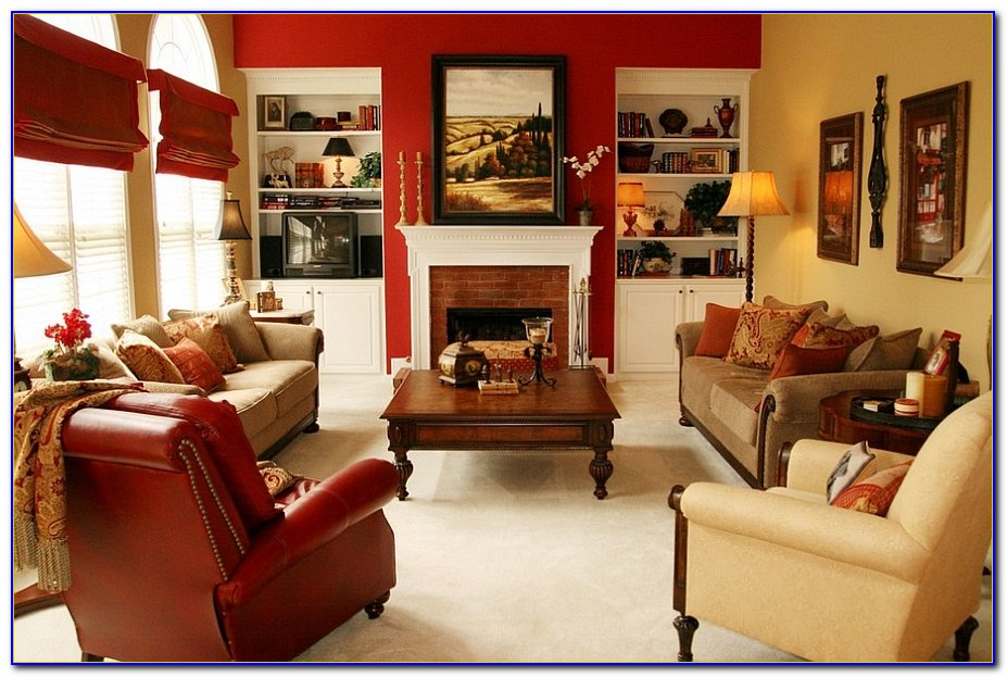 Red Print Living Room Chairs