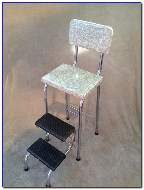 Retro Folding Step Stool Chair