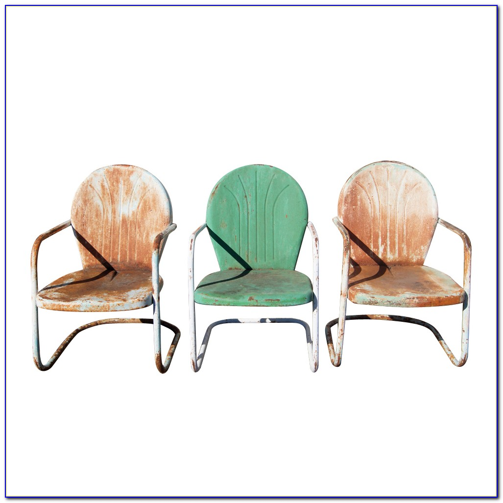 Retro Metal Garden Chairs