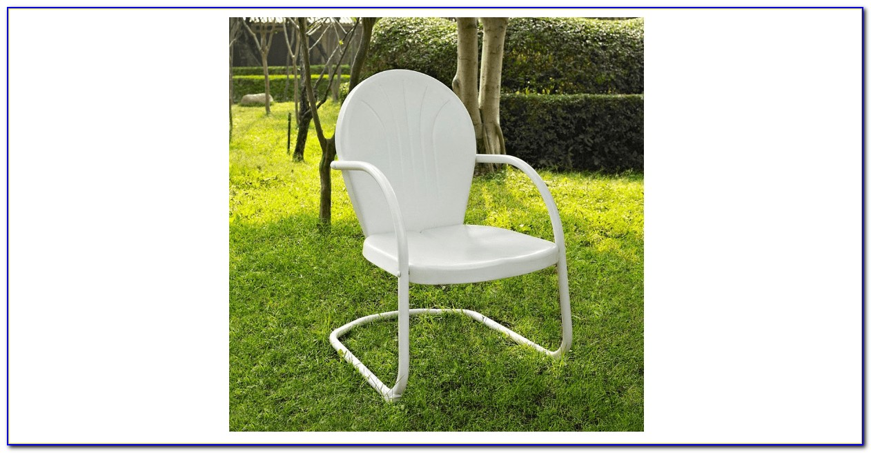Retro Style Metal Patio Chairs
