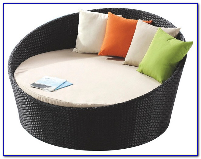 Round Double Lounge Chair Outdoor