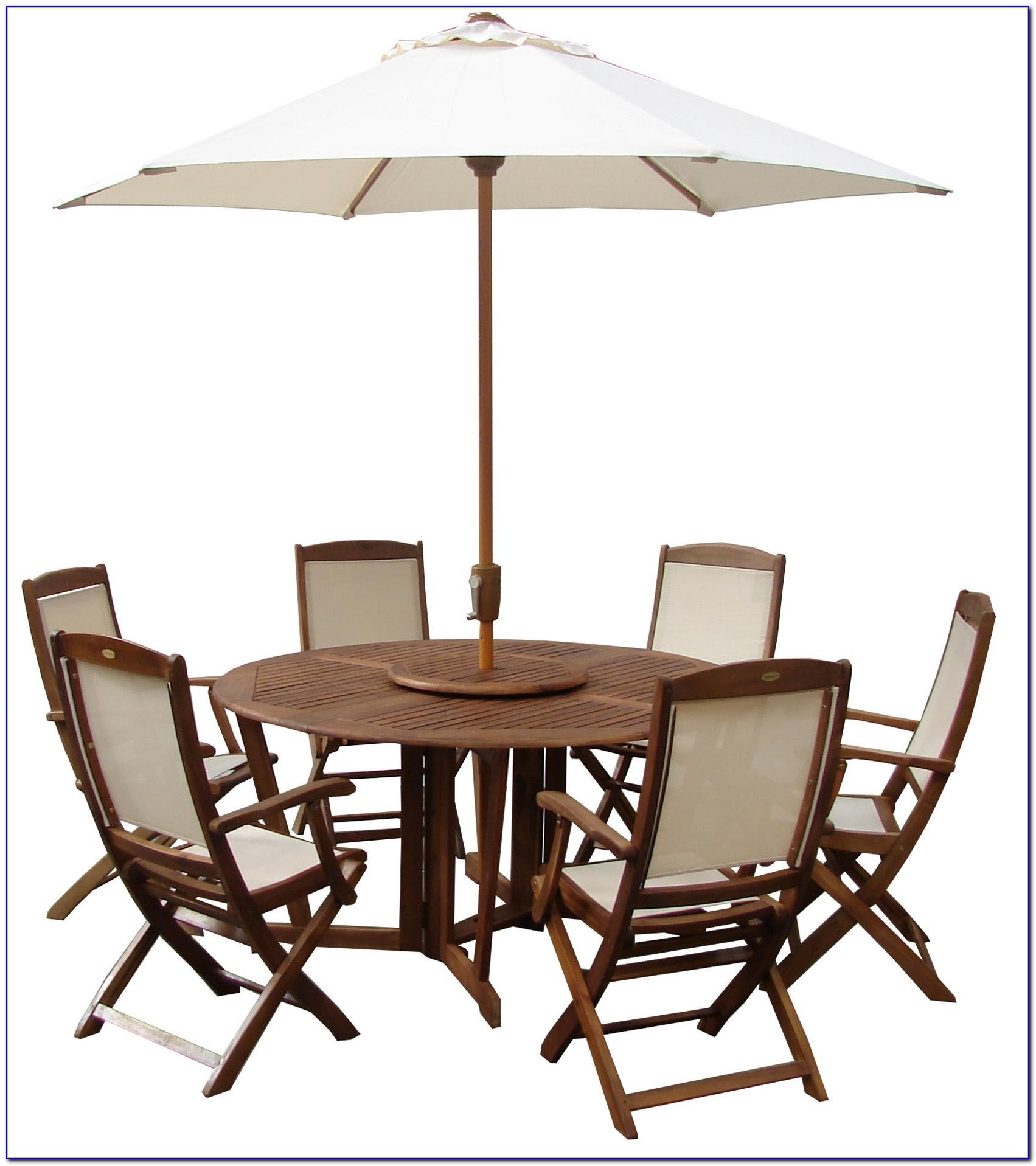 Round Garden Table With 6 Chairs