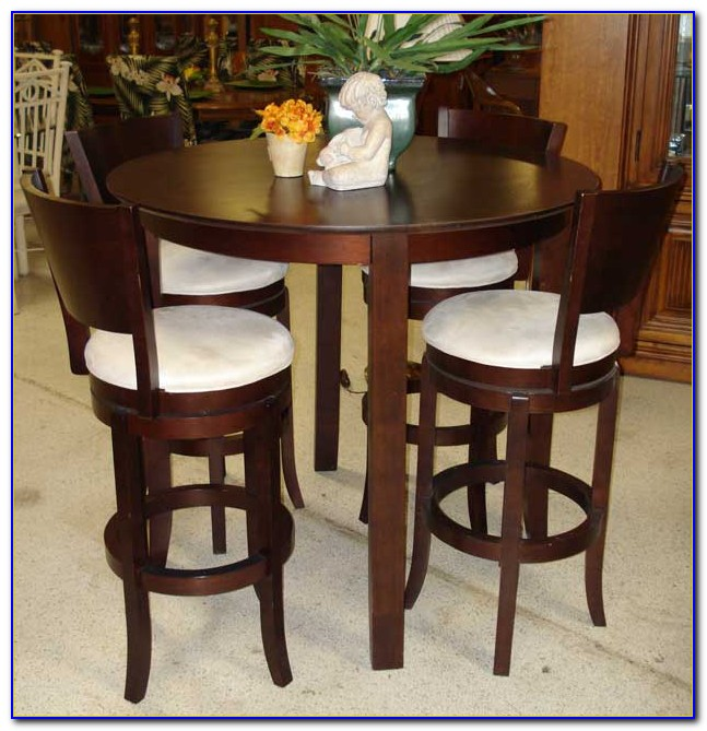 Round High Top Table And Chairs