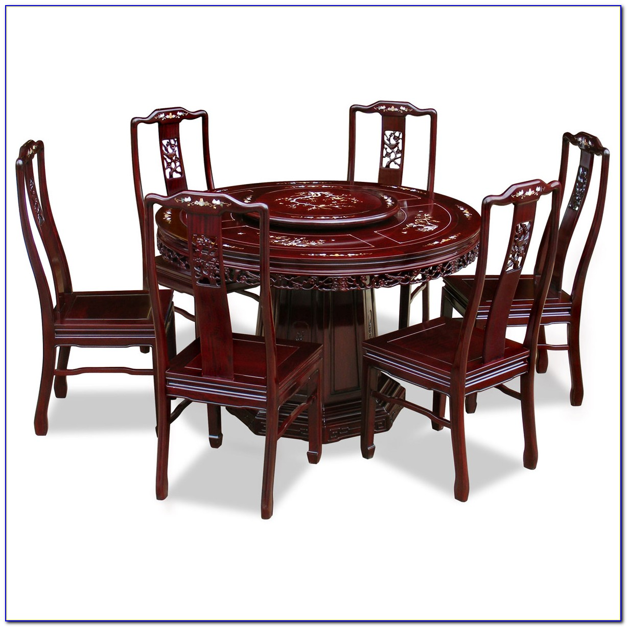 Round Table With 6 Chairs Size