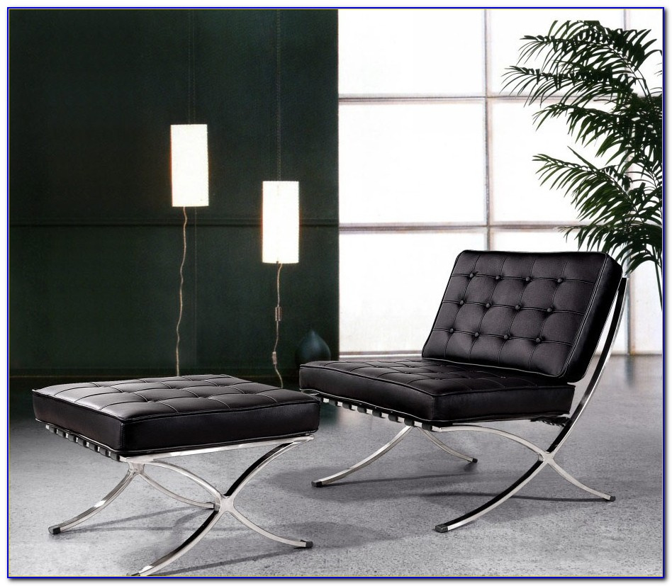 Sei Bay Hill Leather Reclining Chair And Ottoman Set