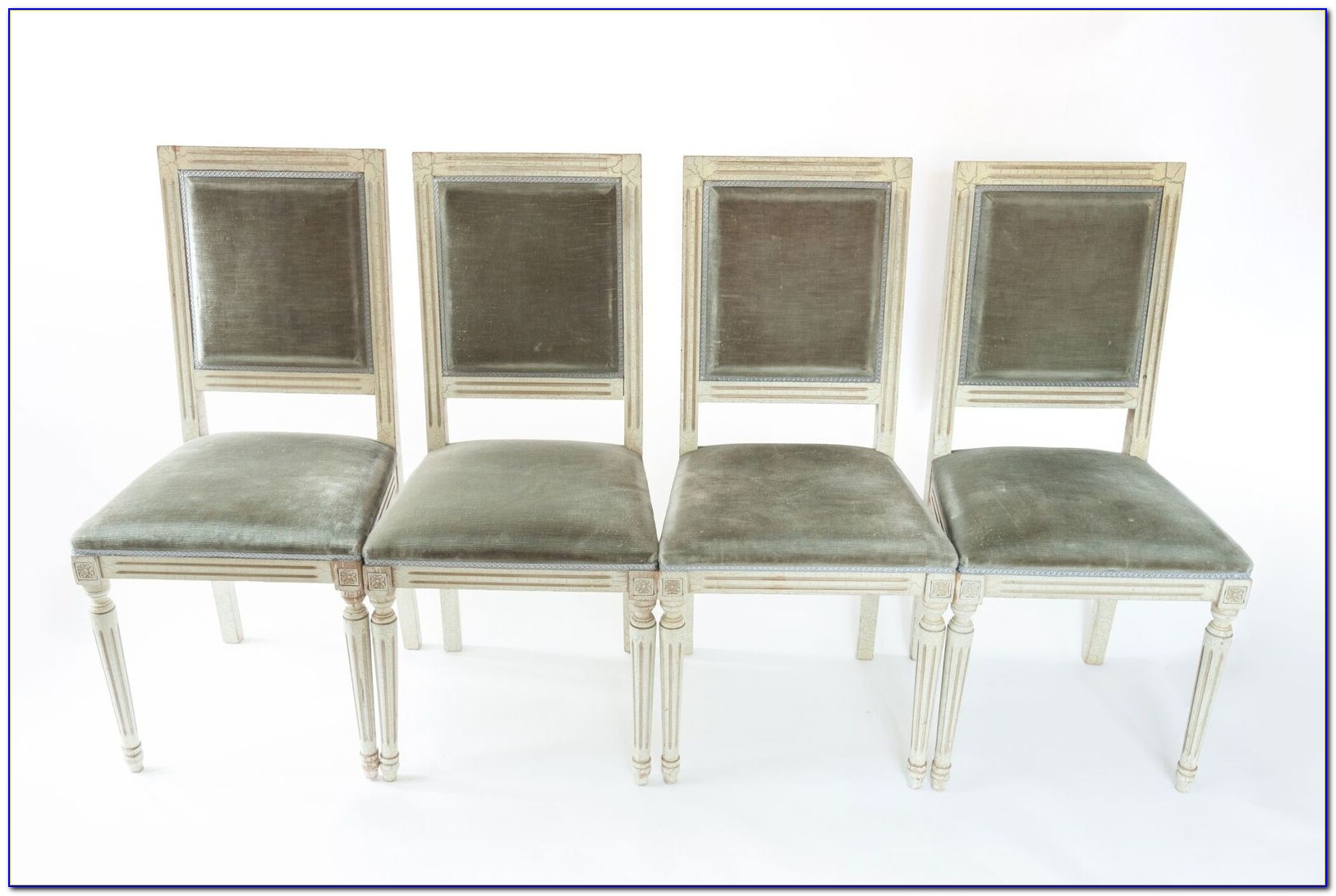 Silver Grey Velvet Dining Chairs
