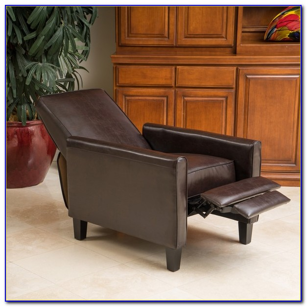 Small Black Leather Club Chair