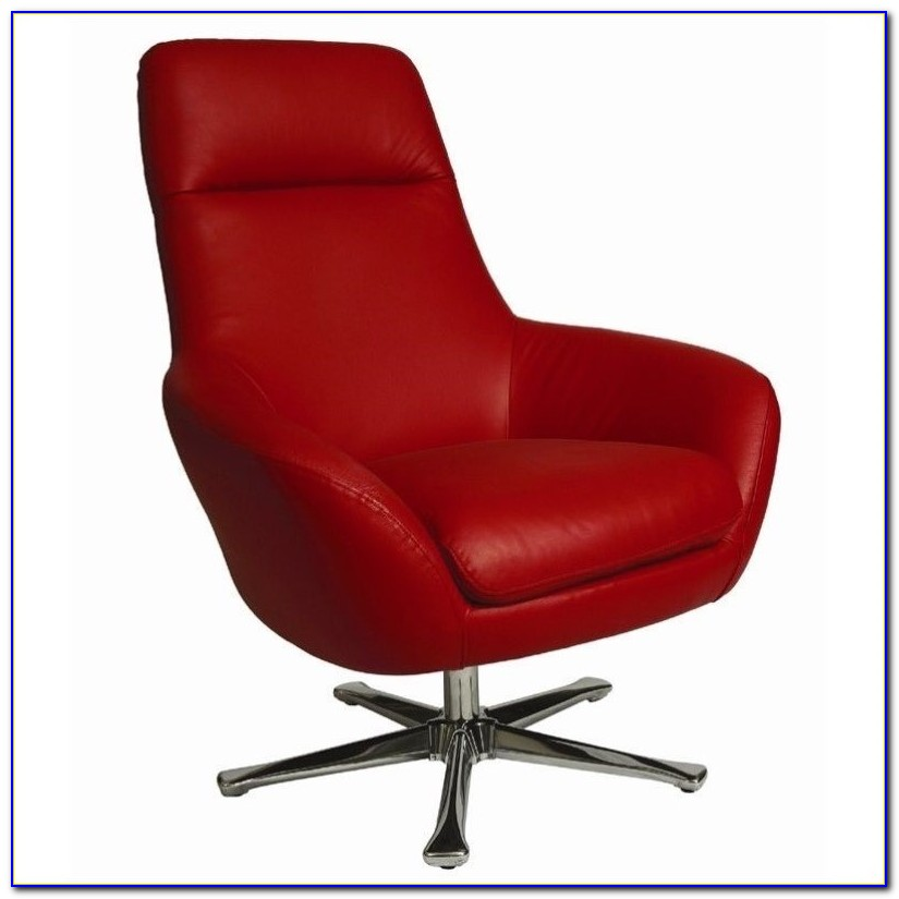 Small Red Leather Club Chair