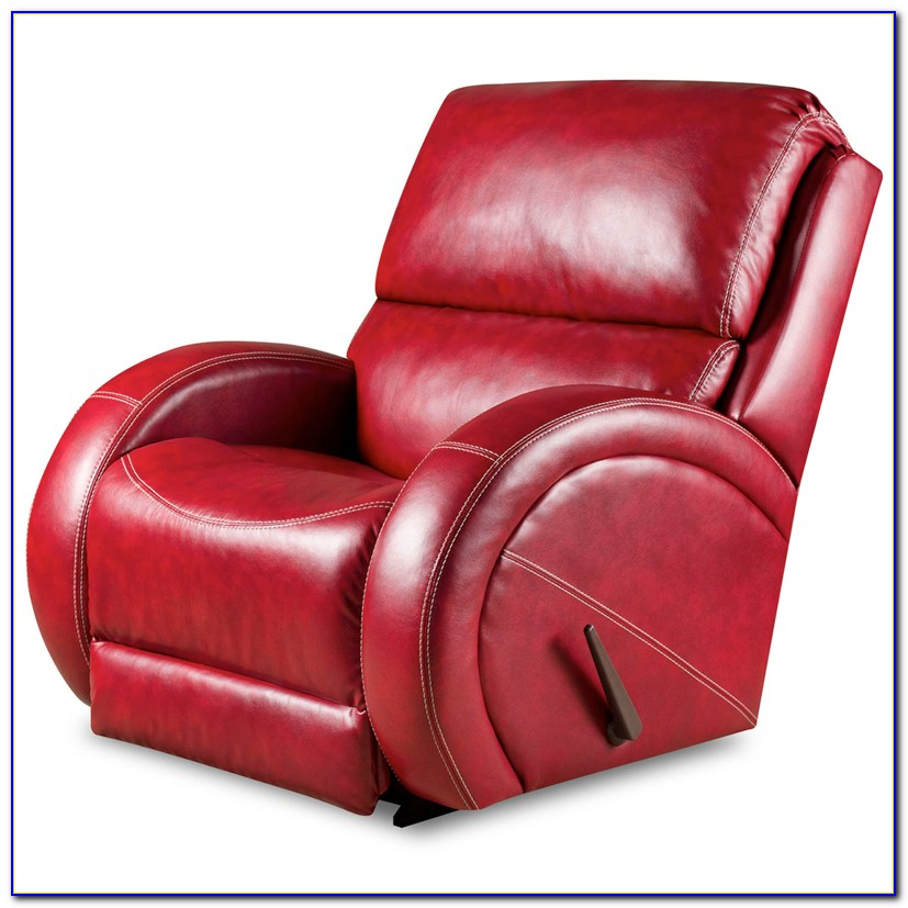 Small Red Leather Recliner Chair