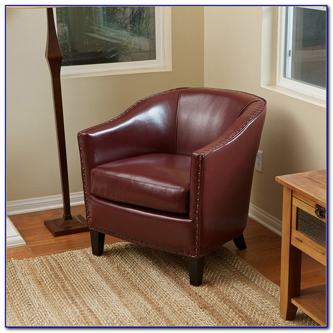 Small Scale Leather Club Chair