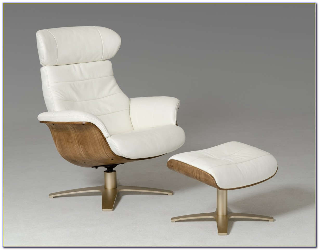Small White Leather Recliner Chair