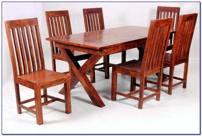 Solid Wood Dining Table And Chairs Ebay