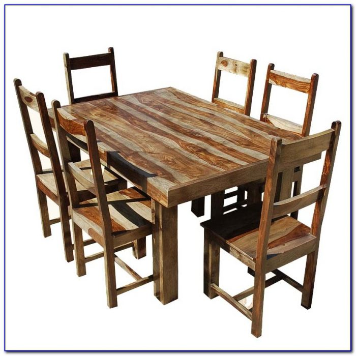Solid Wood Dining Table And Chairs Used