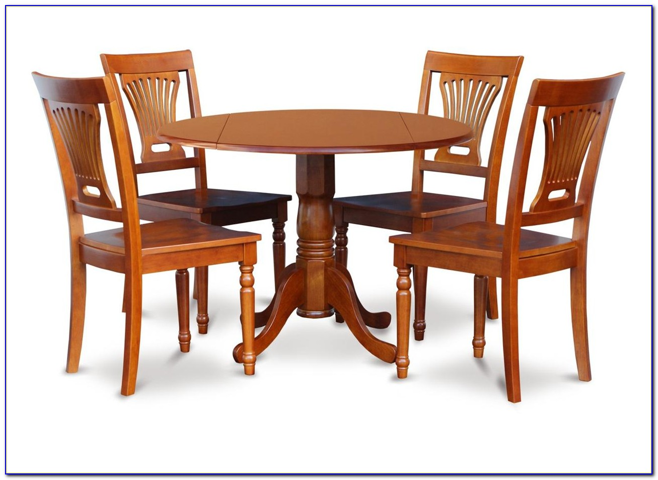 Solid Wood Round Dining Table And Chairs