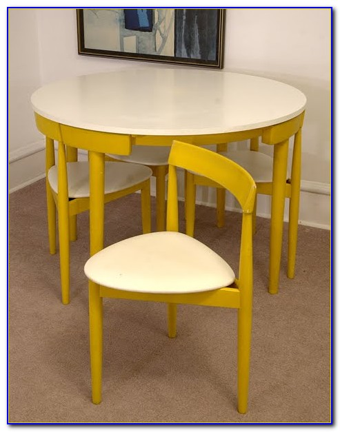 Space Saving Dining Table And 6 Chairs