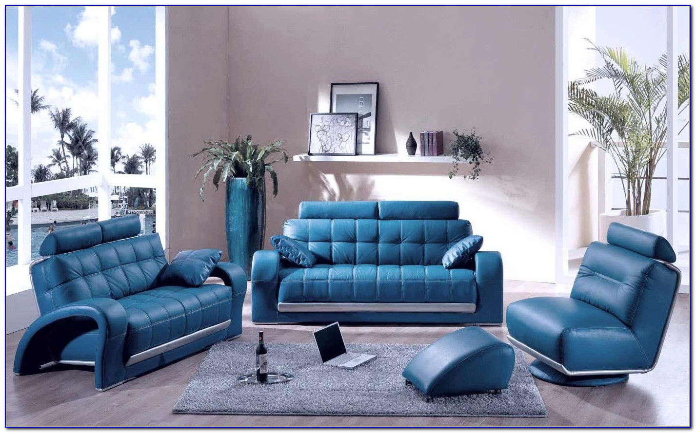Teal Blue Living Room Chair