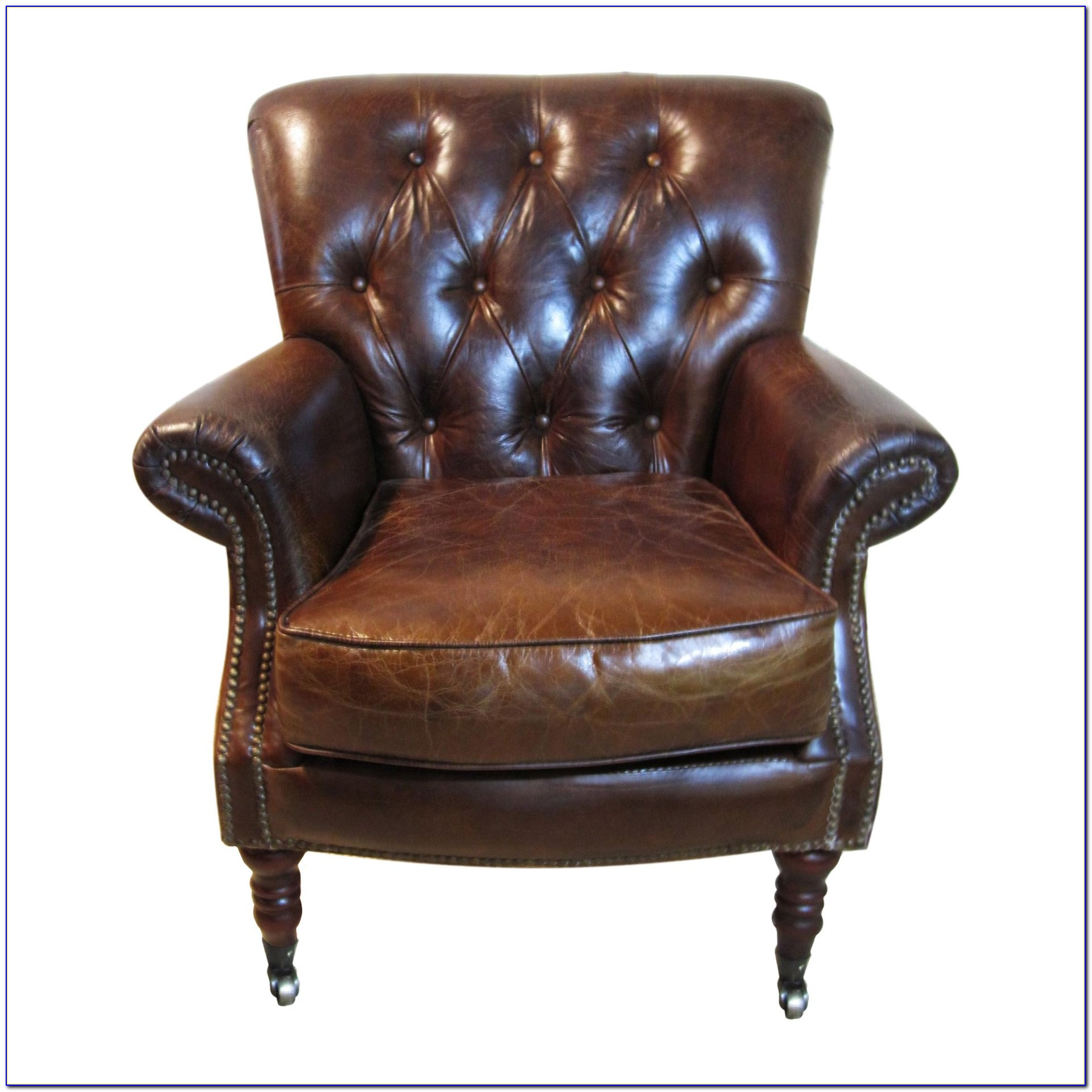 Tufted Leather Club Chair By Andover Mills