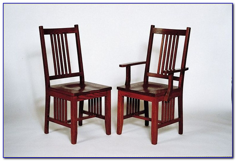 Unfinished Mission Style Dining Chairs