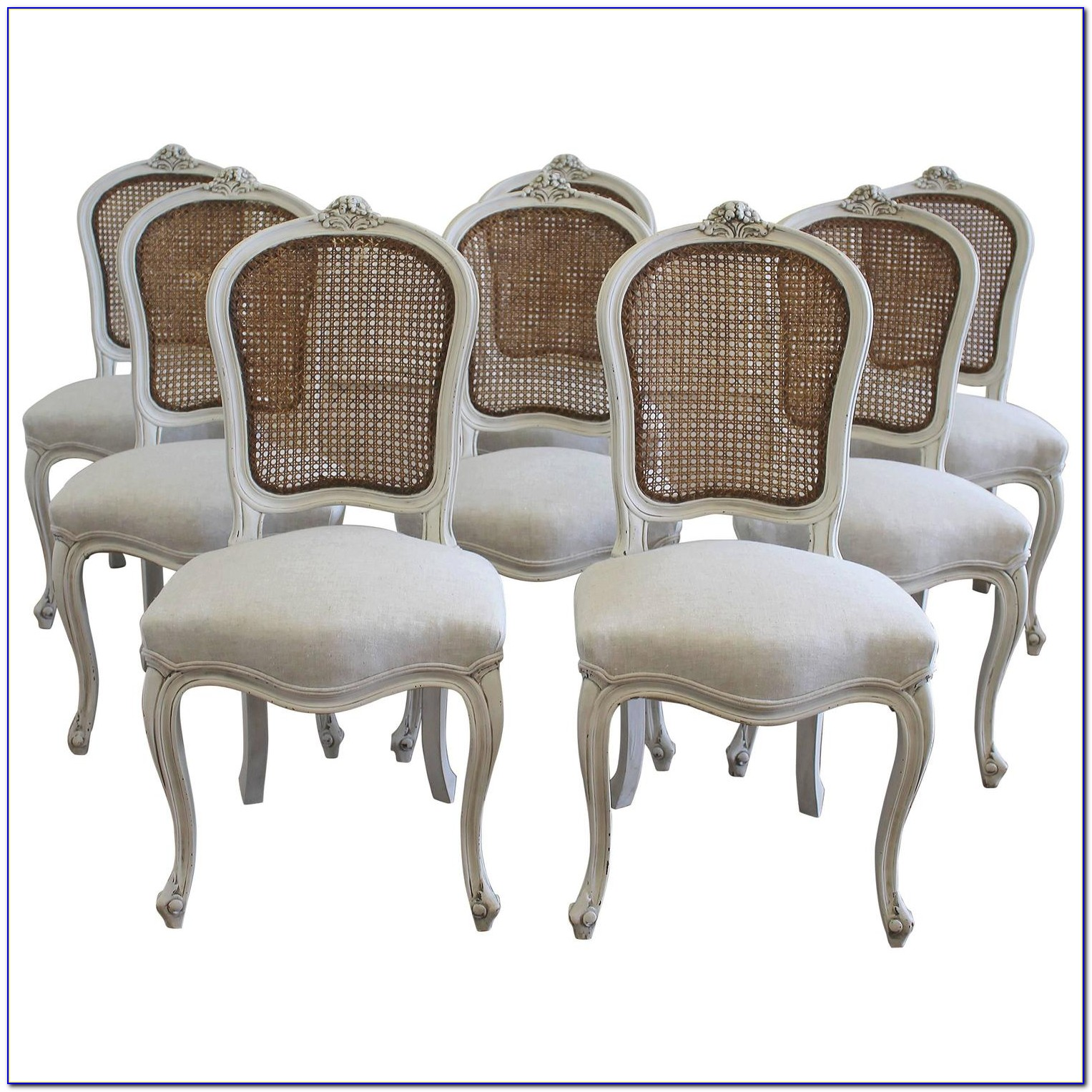 Vintage French Cane Back Chairs