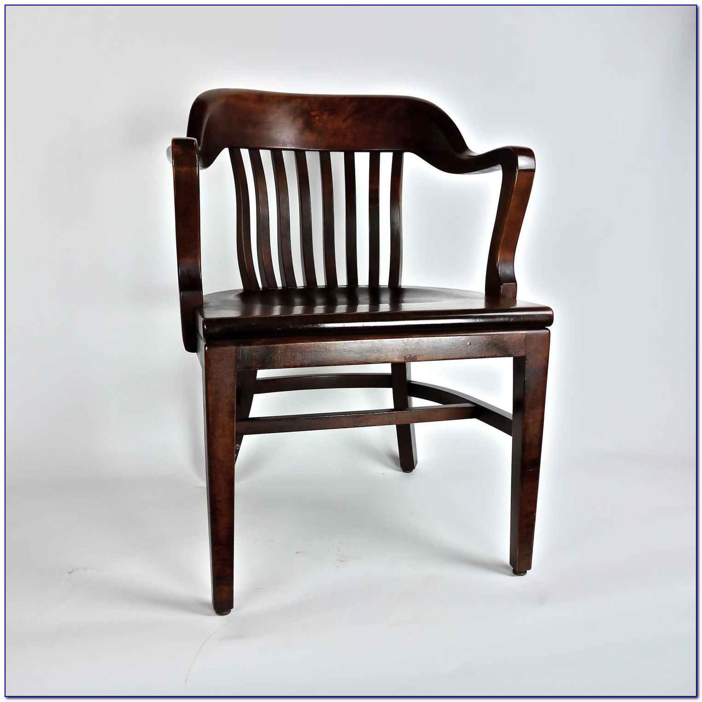Vintage Oak Office Chair