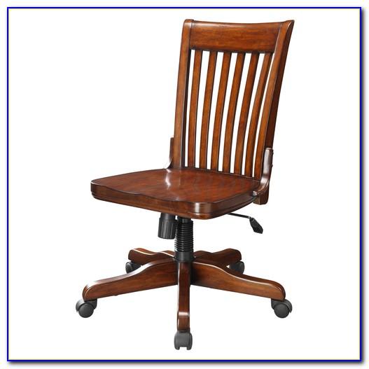 Vintage Wood Desk Chair