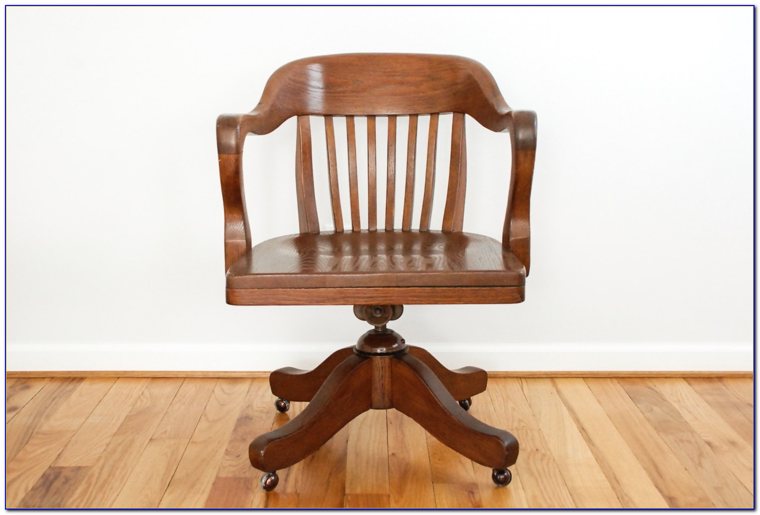 Vintage Wood Office Chair